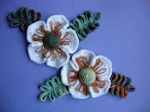 ▶ Как вязать цветок Вязание крючком Урок 24 Crochet flower pattern - YouTube