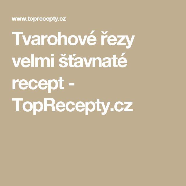 Tvarohové řezy velmi šťavnaté recept - TopRecepty.cz
