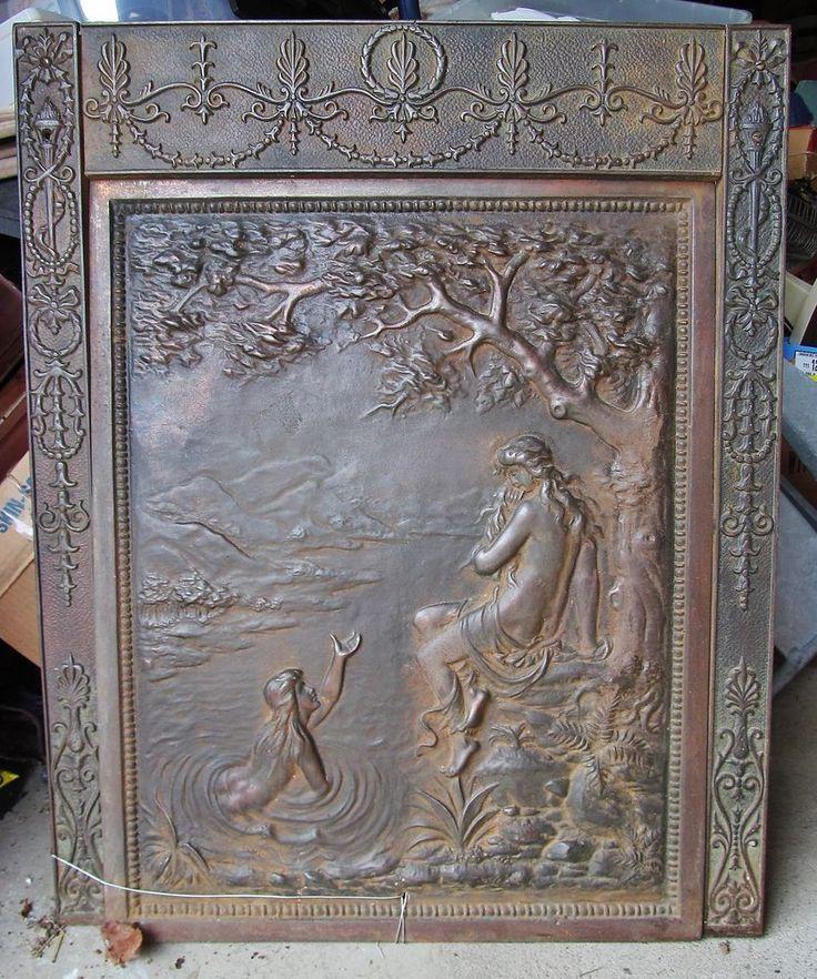 Antique Victorian Figural Nouveau Cast Iron Fireplace Surround Summer Cover Fireplace Pinterest Kitchen Remodel Victorian Fireplace And Fireplace
