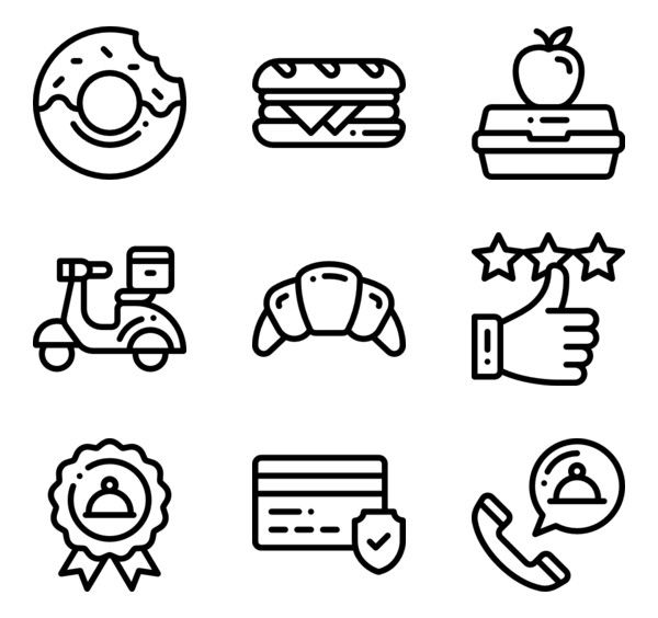 Detailed Rounded Icon Style Lineal 78 916 Vector Icons Available In Svg Eps Png Psd Files And Icon Font Logo Sticker Icon Cute Little Drawings