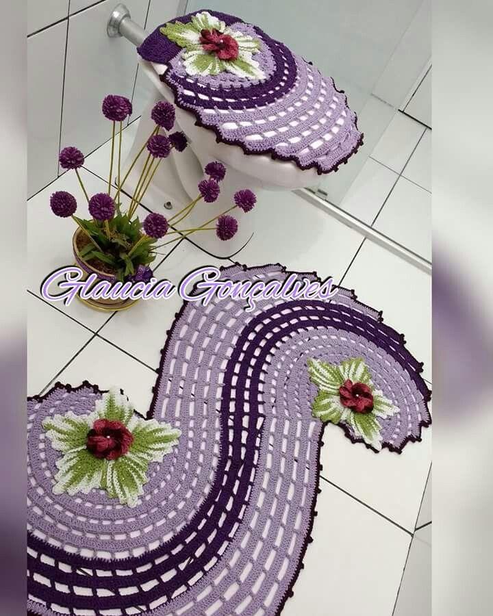 Juego De Bano Espiral Jogos De Banheiro Croche Desenhos De