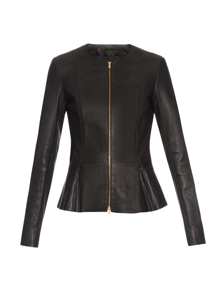 Anaste collarless leather jacket | The Row | MATCHESFASHION.COM US