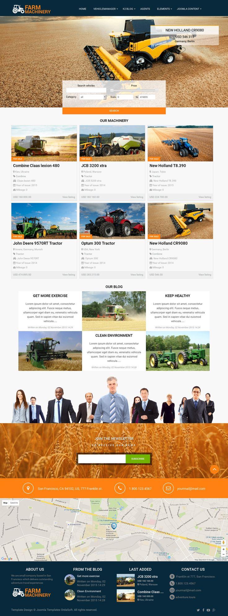 12 best Agriculture Joomla Templates images on Pinterest | Joomla ...