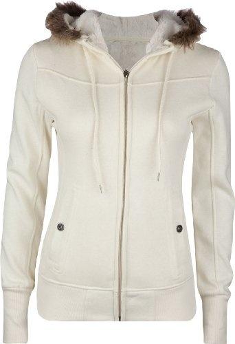FULL TILT Fur Trim Womens Hoodie womens-fashion-hoodies