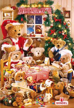 Teddy Bear Feast Jumbo Chocolate Advent Calendar | Specialty Advent Calendars | Vermont Christmas Co. VT Holiday Gift Shop