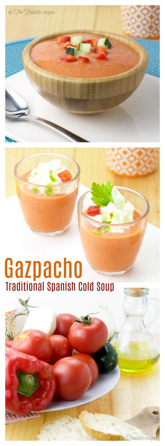 Spanish cold soup gazpacho tapas #gazpacho #spanish