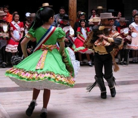 Children's cueca  contest, Chile.