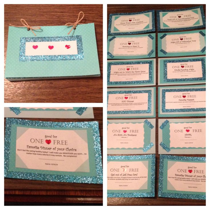 homemade coupon book for husband ideas