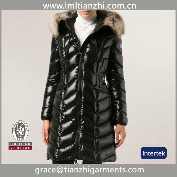 2015 women's long coat plus size down coat & shiny winter women long fox fur down coat