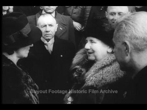 Queen Returns To Netherlands (1945) - YouTube
