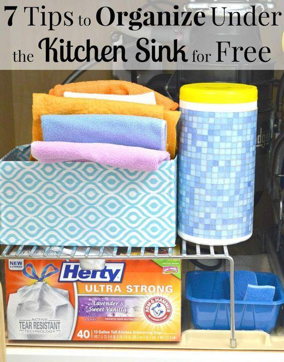 202 Best Kitchen Under The Sink Images On Pinterest Organized Kitchen Kitchen Sink Organization And Kitchen Storage