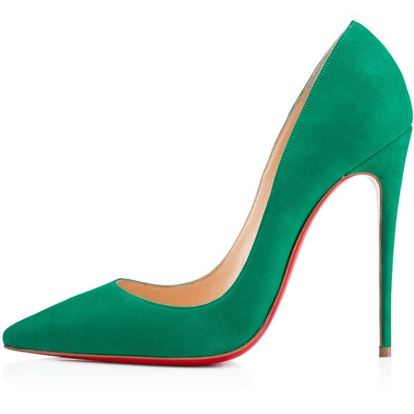 Christian Louboutin So Kate ($675) ❤ liked on Polyvore featuring shoes, pumps, heels, christian louboutin, store, mint pumps, sexy pumps, suede pumps, mint suede pumps and high heels stilettos