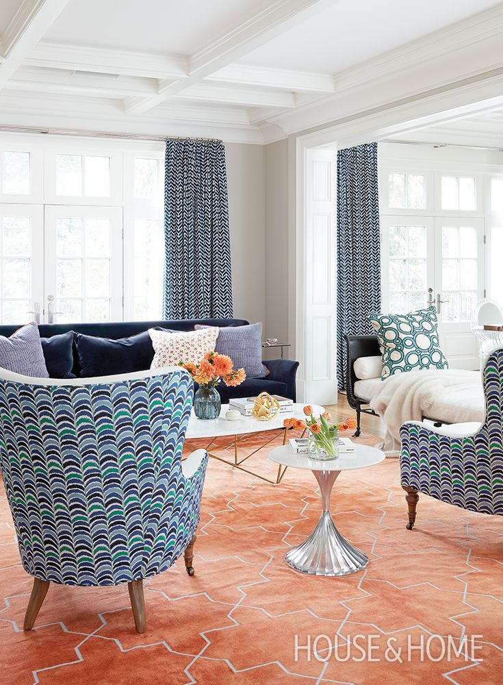 Designer Jennifer Worts gets adventurous with pattern and color in a family home. | Photo: Kim Jeffery