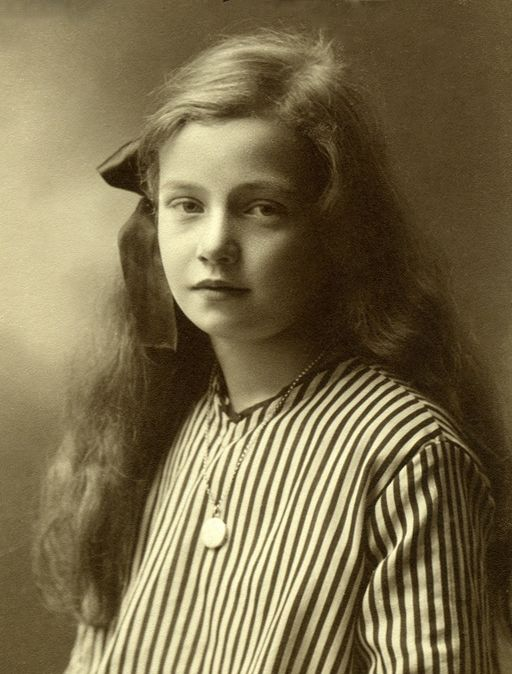Lovely portrait of a young girl in Sweden c. 1905.