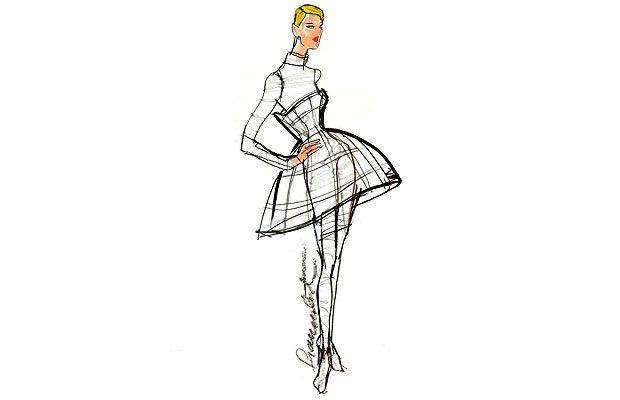 Calvin Klein fashion sketches | Fashionary Hand