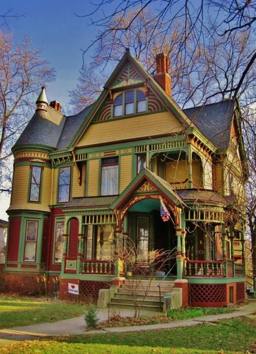 Stunningly Painted 1887 Edward B Gridley House In Bloomington Il Splendid Choice Of