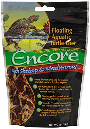 Brown's Encore Floating Aquatic Turtle Diet is a zoo-formulated life-stage diet made specifically for aquatic turtles of all sizes. This floating daily diet and treat combination contains real freez...