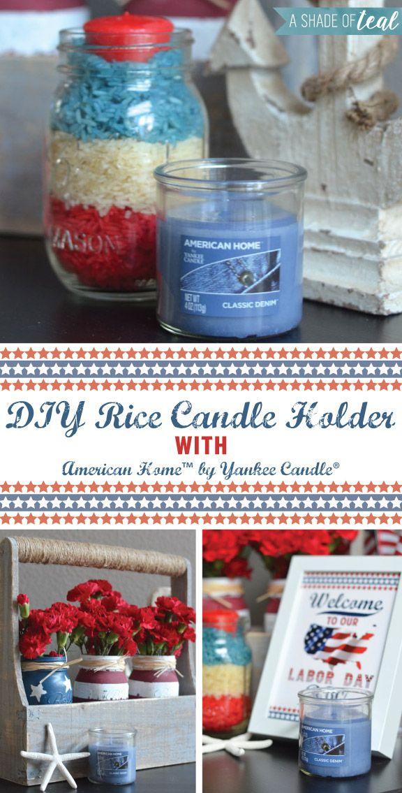 #Candelabro con #arroz coloreado y #velas