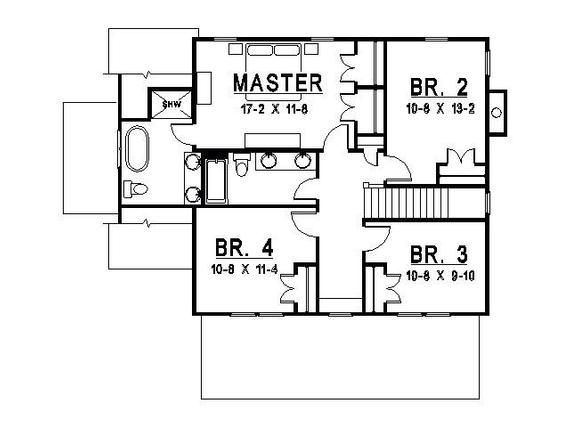 Lakeview Sketch Etsy House Plans Best House Plans Three Bedroom House Plan