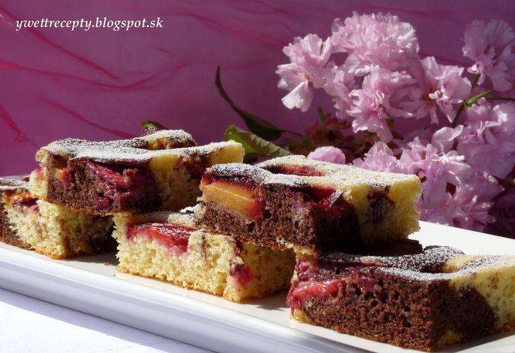 Mramorový slivkový koláč