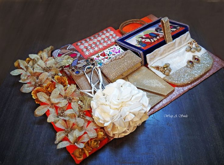 Trousseau Packing/Clutch Bag packing At Wrap A Smile ! <3 #trousseau #wedding…
