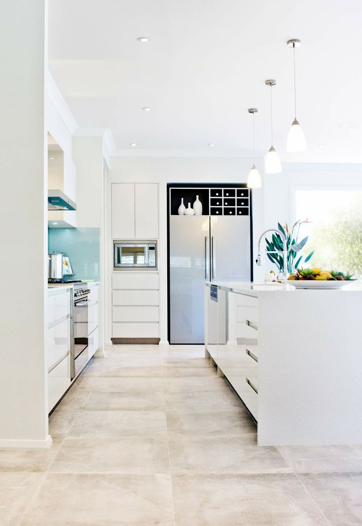 McDonald Jones Montego Design -  Beautiful spacious Kitchen. Exclusive to Queensland. #kitchens #mcdonaldjones #australia #design #luxuryhome #architecture #queensland