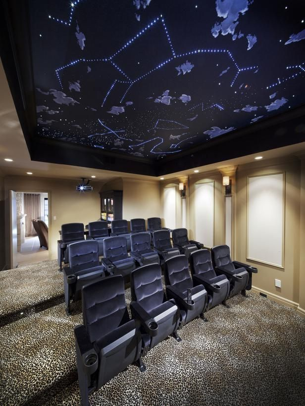Home Theater Seating, CEDIA 2012, nighttime sky ceiling with stars