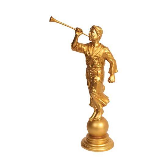 "6"" Angel Moroni Gold Tone Statue S31a"