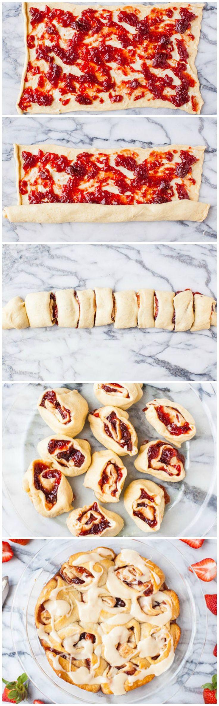 Strawberry Jam Sweet Rolls #pillsbury