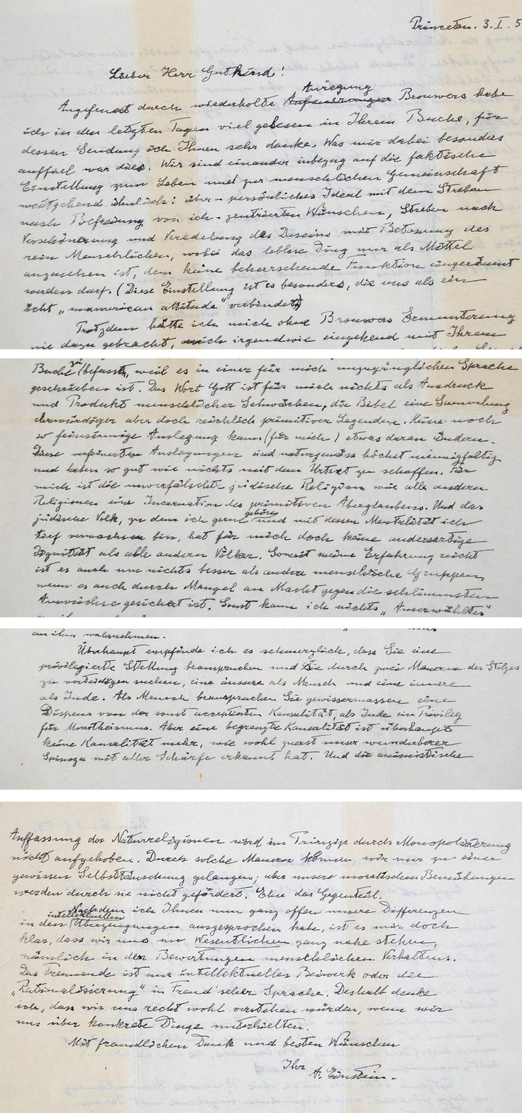 17 best ideas about albert einstein religion albert the god letter a handwritten letter in which albert einstein challenges the idea