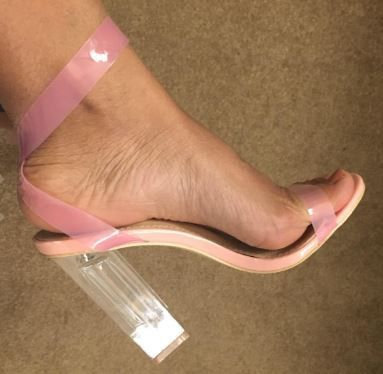 """Now available to order: """"Pink Friday"""" Cle... Check it out here! http://shopdgcouture.co/products/pink-friday-clear-strappy-chunky-high-heel-pink-perspex-peep-toe-sandal-heels?utm_campaign=social_autopilot&utm_source=pin&utm_medium=pin"""