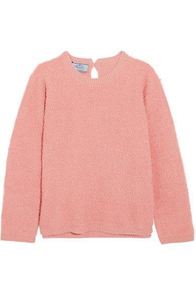 Prada - Alpaca-blend Bouclé Sweater - Pink - IT42