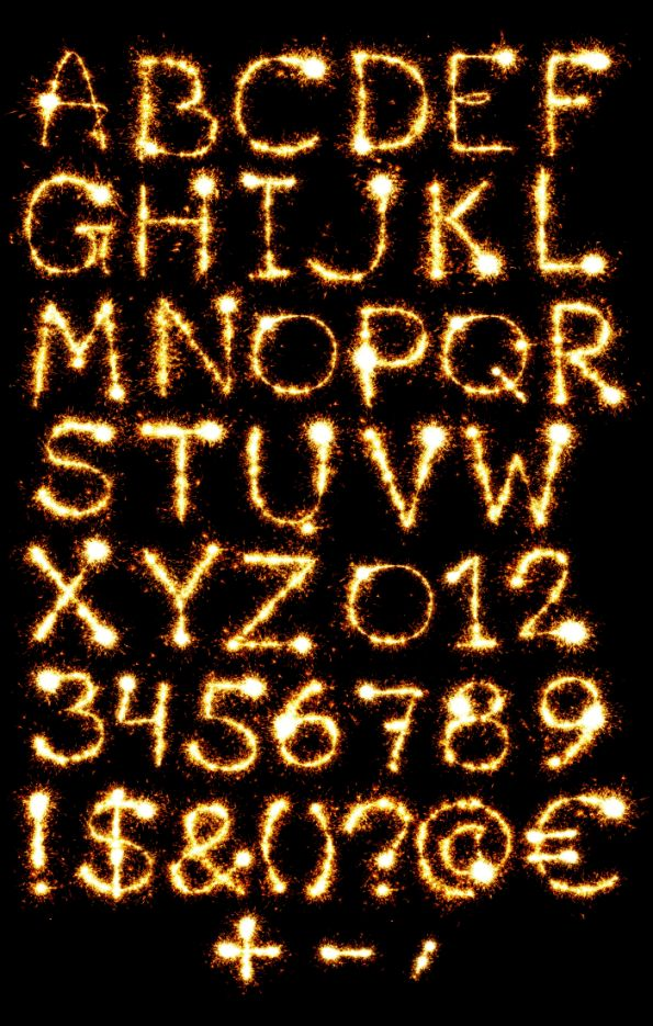 Sparkler Animated Font. Warmth Of Handmade Font Fire