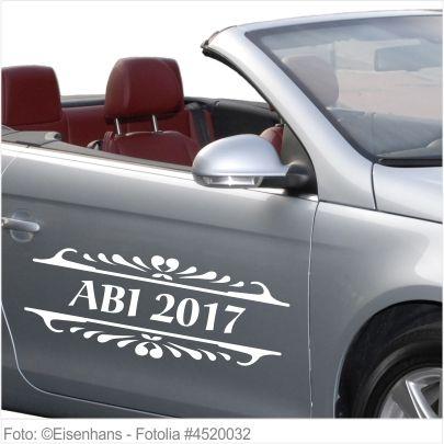 Autoaufkleber und Sticker ABI 2017 mit Ornament