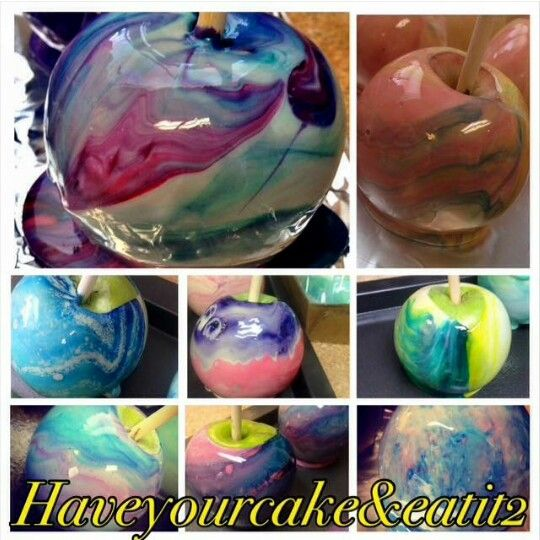 Marble candy apples (candy apples recipe chocolate)