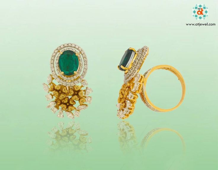 Design Of The Day......... PIETRA EMERALD RING http://www.atjewel.com/design-of-the-day/pietra-emerald-ring