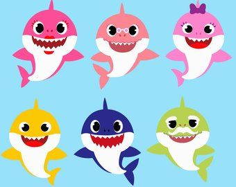 baby shark png - Google Search | Baby shark, Shark party ...