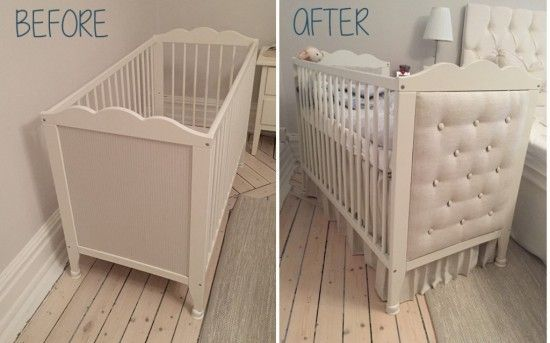 So fun and easy to do this baby crib headboard. IKEA item: HENSVIK crib The HENSVIK crib has a lot going for it — the bed base can be placed at 2 different heights, it's safety tested and great value
