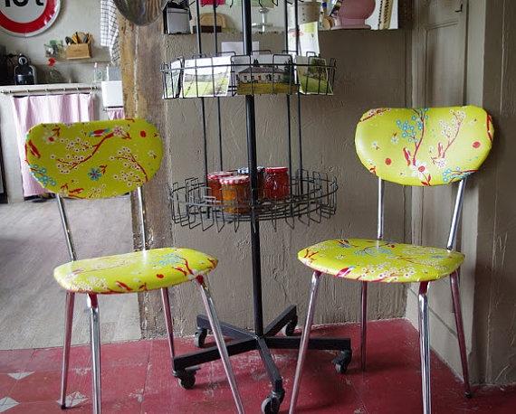 chaises de cuisine vintage by lesmeublessympa on etsy 14000 chai de chaises - Chaise De Cuisine Retro