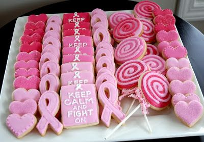 Daily Update Interior House Design: Decorated Cookies For Breast Cancer Awareness Month