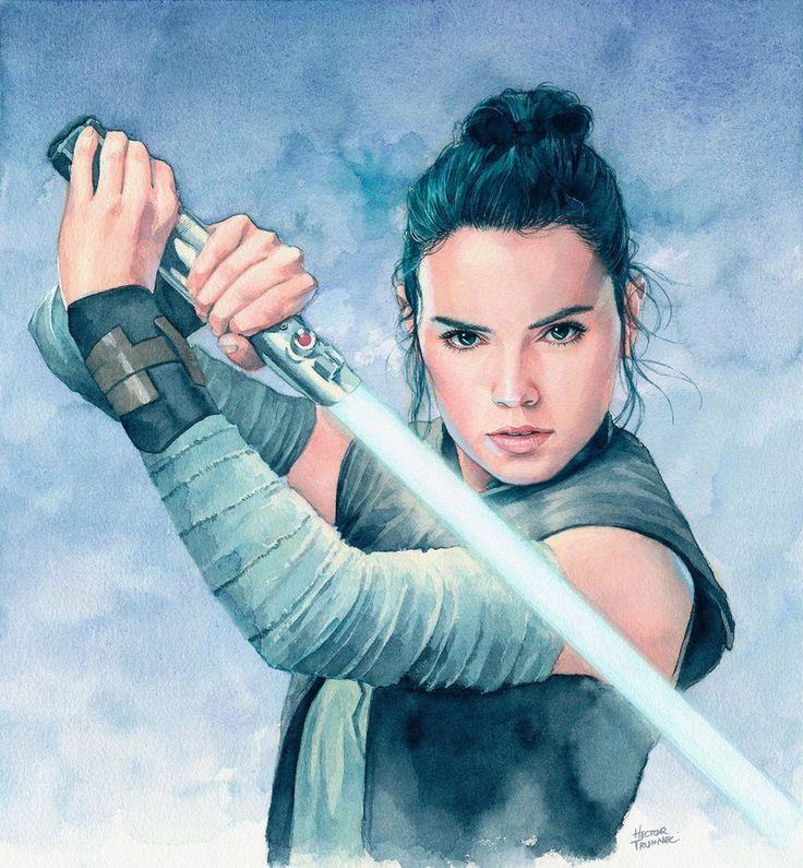 Rey (The Last Jedi) by Trunnec.deviantart.com on @DeviantArt - More at https://pinterest.com/supergirlsart #starwars #star #wars
