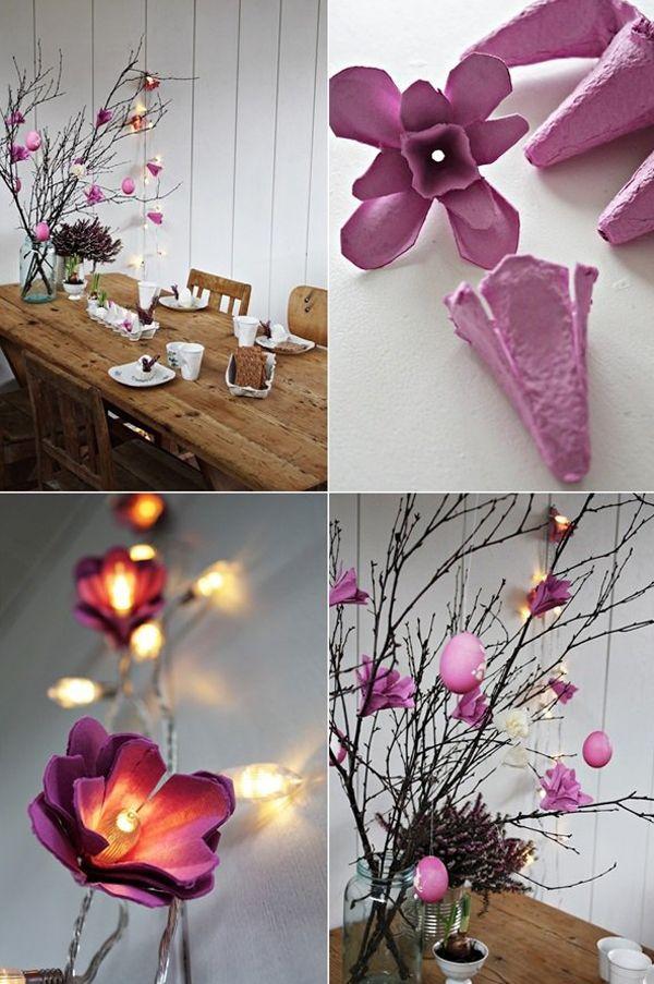 Como Fazer Flor De Caixa De Ovo 15 Fotos E Ideias Caixas De