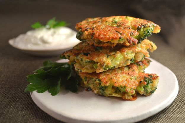 Broccoli, Cheddar, Jalapeño, and Quinoa Fritters