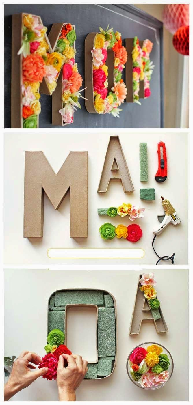 Blooming Monogram - 25+ May Day ideas gifts and decor - NoBiggie.net