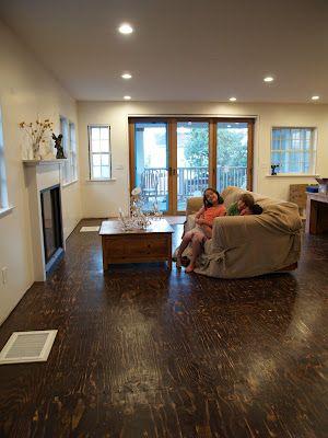 interesting floor, plywood?