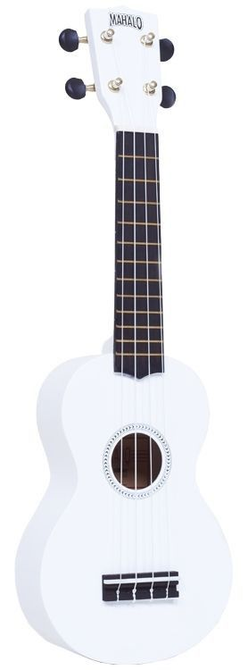 New! Mahalo Rainbow Series Ukulele White Gold Dolphin Machine Heads w/ Case