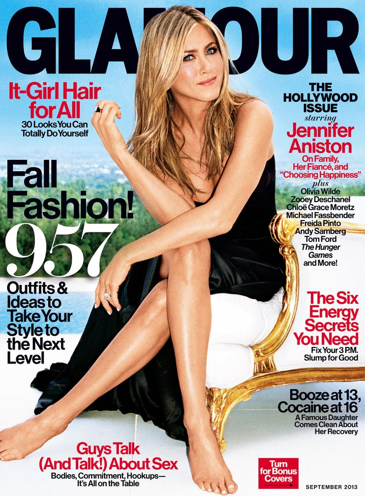 Jennifer Aniston on Glamour's September issue (The Hollywood Issue!)