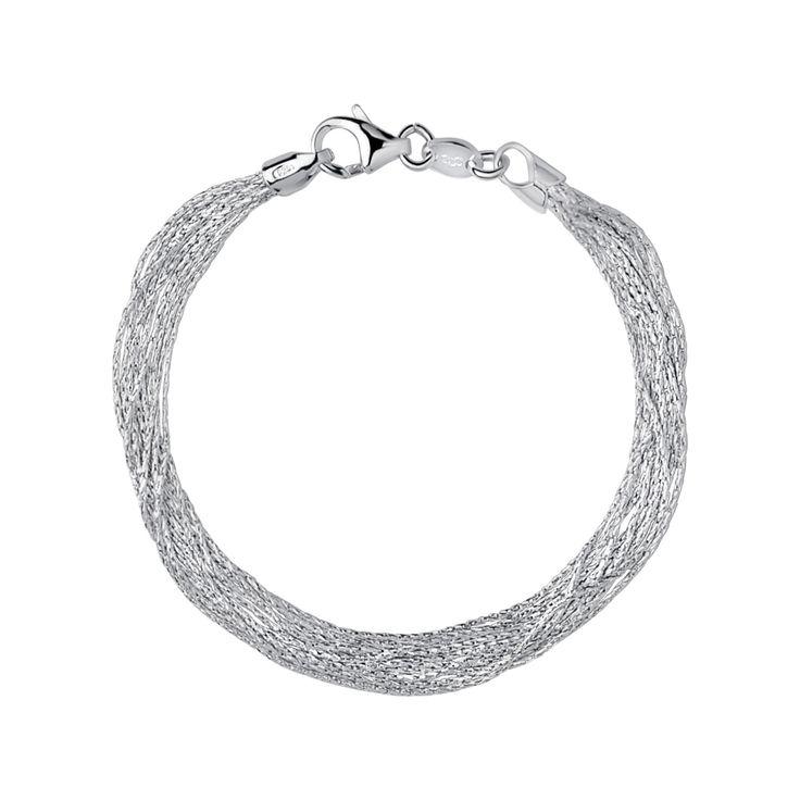 Essentials Sterling Silver Silk 10 Row Bracelet from Links of London | Bracelets for women