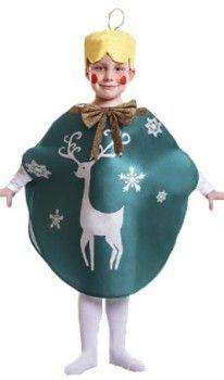 Disfraz de Bola Navidad Verde infantil