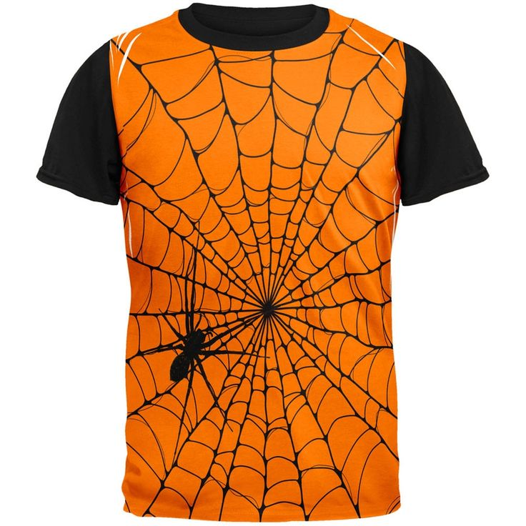 Halloween Giant House Spider Spider Web Adult Black Back T-Shirt